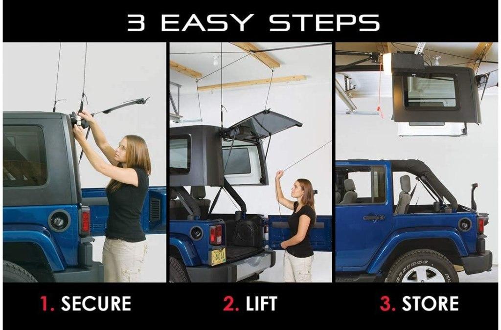 Jeep Hardtop Overhead Garage Storage Hoist