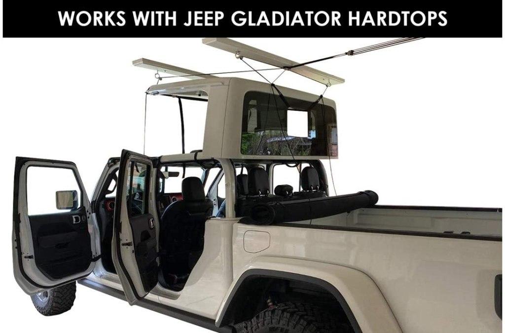 Jeep gladiator Hardtop Overhead Garage Storage Hoist