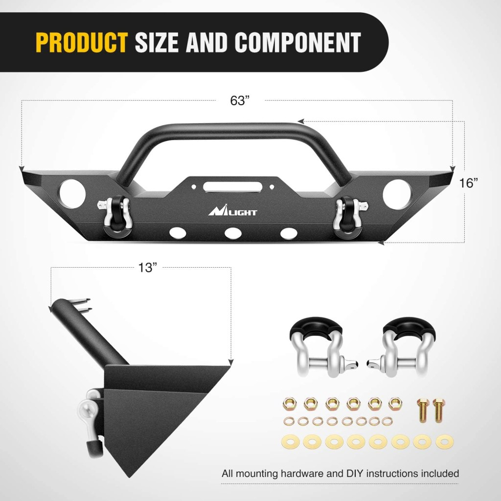 Jeep wrangler bumper mod