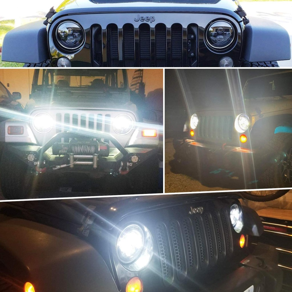 Best LED Headlights for Jeep Wrangler #jeep #jeepaccessories